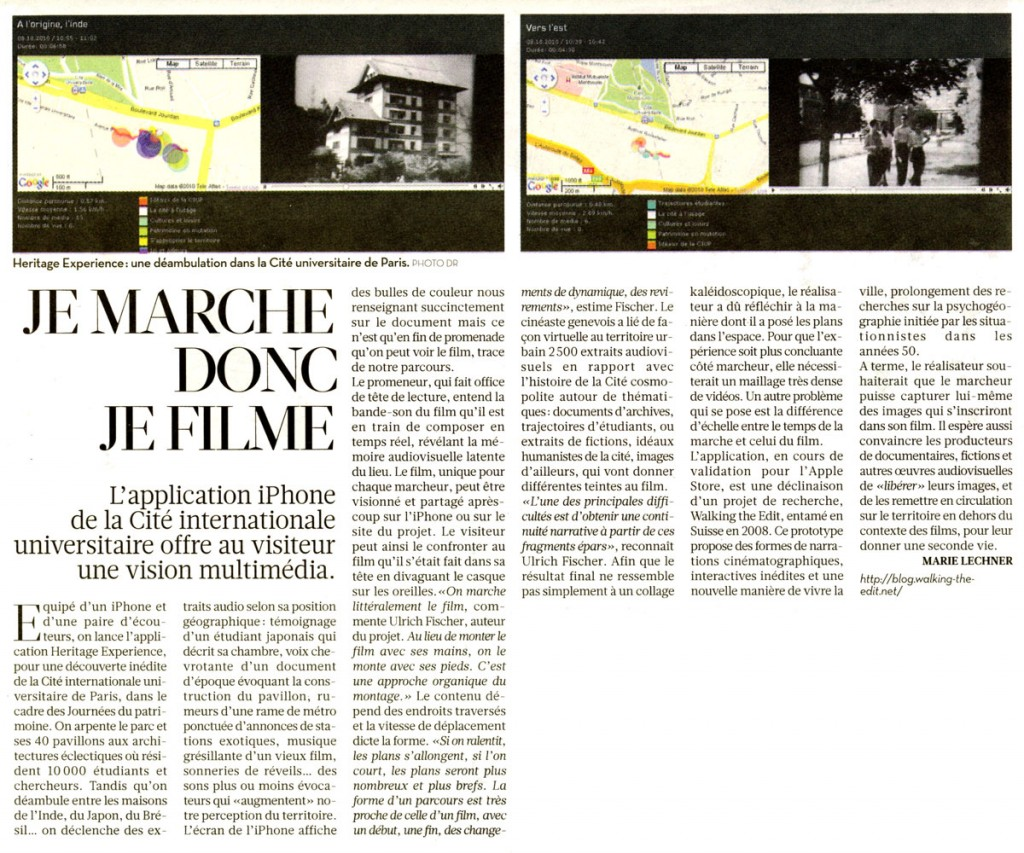 Article Libération du 25 septembre 2010